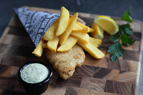Fish & Chips, Fresh John Dory salad (GF) 2 fillets
