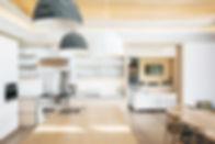 Interior design clean kitchen