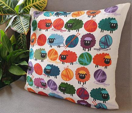 Arapawa Wool Cushion Inner with Sheep Cover