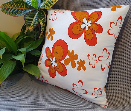 Arapawa Wool Cushion Inner with Orange Flower Cover