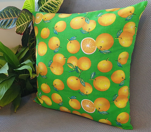 Arapawa Wool Cushion Inner with Oranges Cover