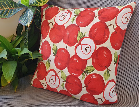 Arapawa Wool Cushion Inner with Red Apple Cover