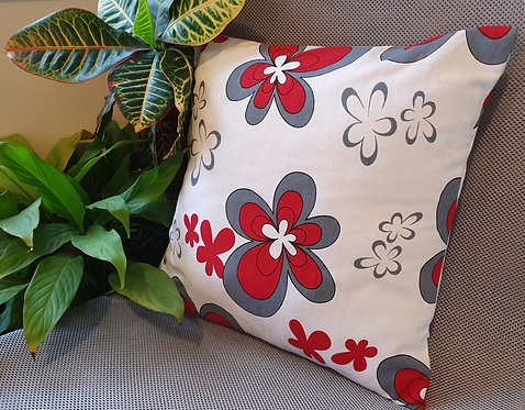 Arapawa Wool Cushion Inner with Red Flower Cover