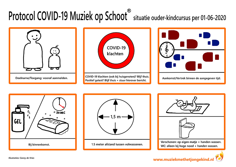 Protocolposter COVID-19 Muziek op Schoot