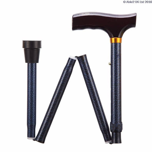 "Folding Adjustable Walking Sticks - Blue Ice 33-37"" VAT EXEMPT"