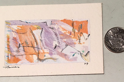 "1.25 in X 2.25 in ""Catskill"" Mini Abstract Painting."