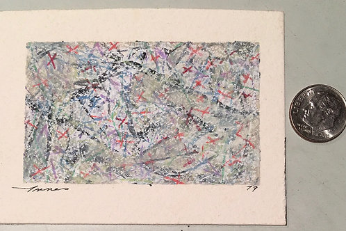 """1.75 in X 2.75 in """"In the Eye"""" Mini Abstract Painting."""