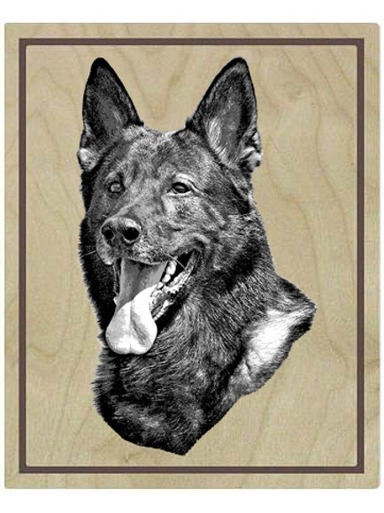 "3/4"" thick, 9""x12""rectangular Baltic Birch Float Panel w single custom photo GSD"