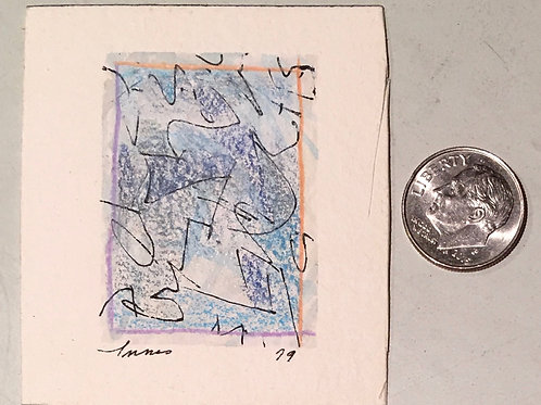 """1.75 in X 1.25 in """"Undertow"""" Mini Abstract Painting."""