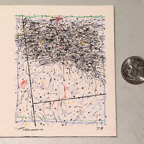 """2.75 in X 2.25 in """"Untitled"""" Mini Abstract Painting."""