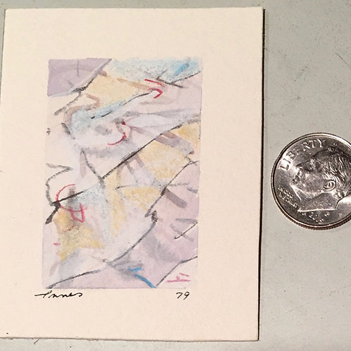 """1.75 in X 1 in """"Glacier"""" Mini Abstract Painting."""