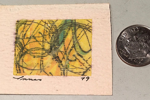 "1 in X 1.25 in ""Spin"" Mini Abstract Painting."
