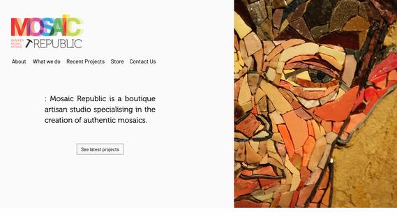 Mosaic Republic - Website Re-design