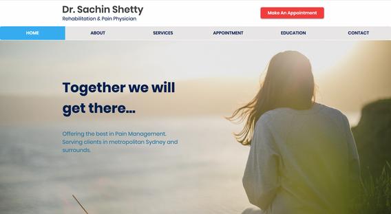 Dr Sachin Shetty - Website Development