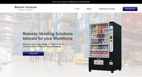 Brand Vending - Website Development