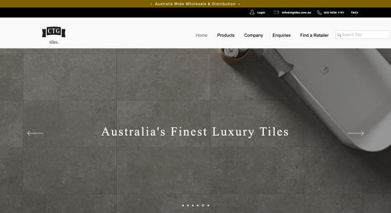 CTG Tiles - Website Redesign