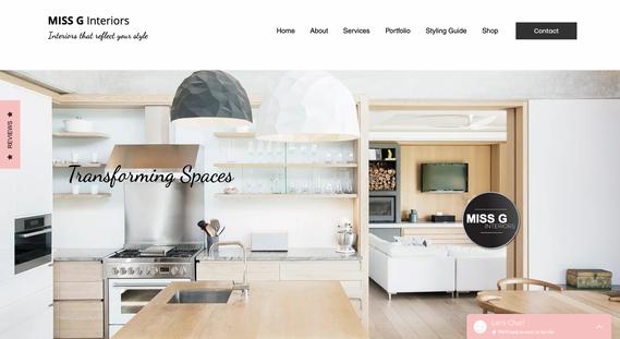 Miss G Interiors - Website Development