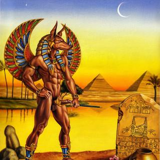 Anubis visting his lover tomb