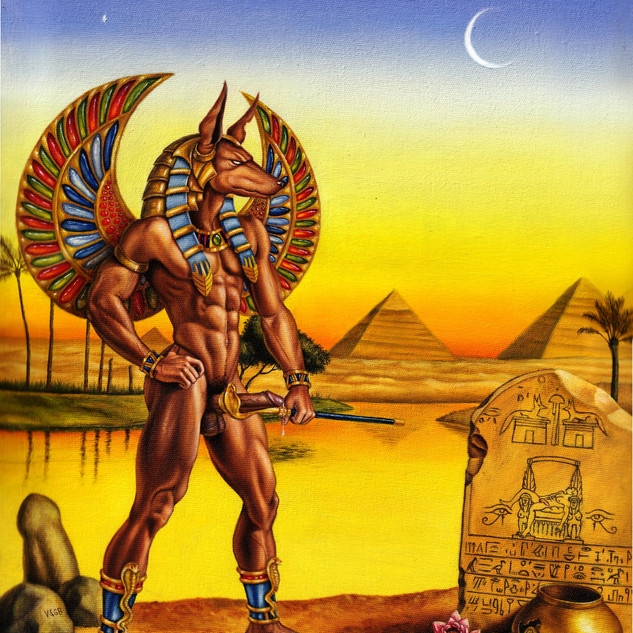 Anubis visting his lover tomb