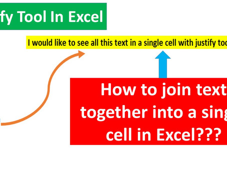 How To Join Texts Together To Form A Single Line In MS Excel and Vice Versa || Justify Tool in Excel