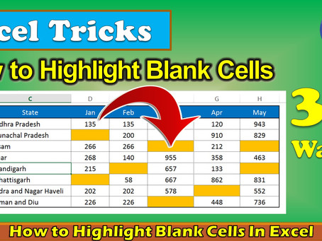 3 Ways To Highlight Blank Cells In Excel || Use Of Conditional Formatting
