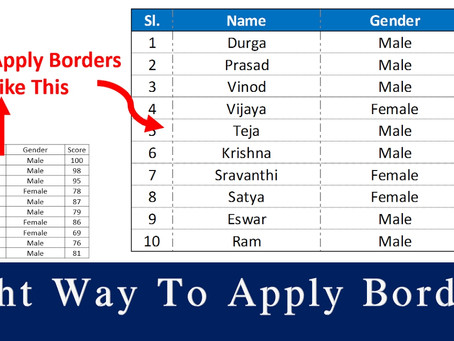 How To Correctly Apply Borders To Tables In MS Excel