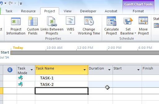 Funny Walking Trick In Microsoft Project