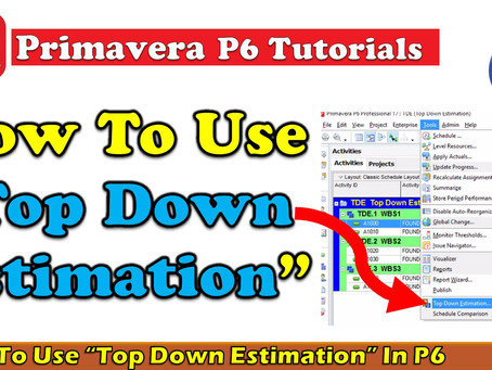 How To Use Top Down Estimation In Primavera P6 || dptutorials