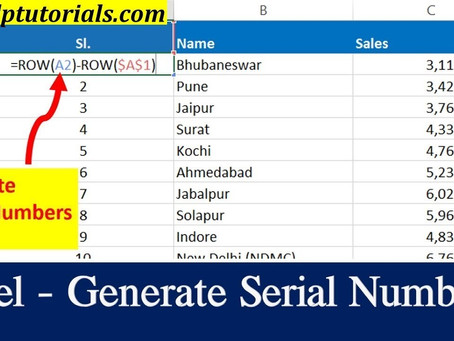 How To Quickly Generate Serial Numbers In Excel