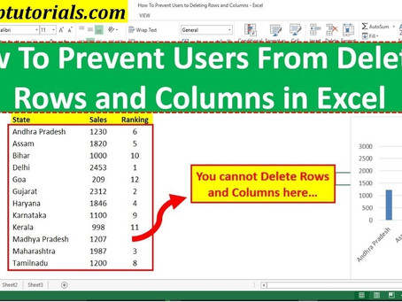 How To Prevent Users From Deleting Rows and Columns in Excel