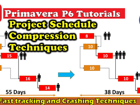 Project Schedule Compression Techniques In Primavera P6 Explained - Fast tracking and Crashing