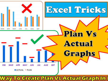 Best Way To Create Plan Vs Actual Graph In Excel || dptutorials