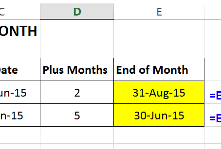 """""""EOMONTH"""" Function In Excel"""