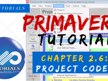 2.6 : Primavera Learning - Project Codes