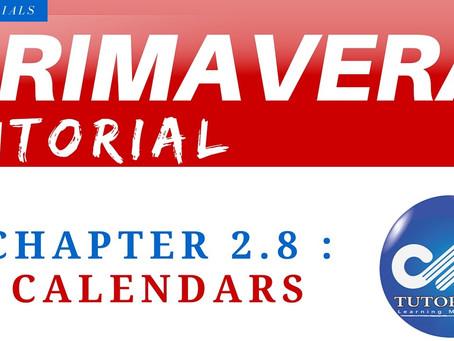 2.8 : Primavera Learning - Calendars