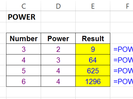 """""""POWER"""" Function In Excel"""