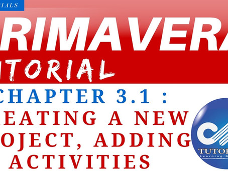 3.0 : Primavera Learning - Creating a New Project
