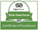 Sindu Guesthouse TripAdvisor Certificate of Excellence