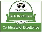 Sindu Guest House TripAdvisor Certificate of Excellence