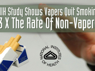 Study Shows 52% of Vapers quit smoking.