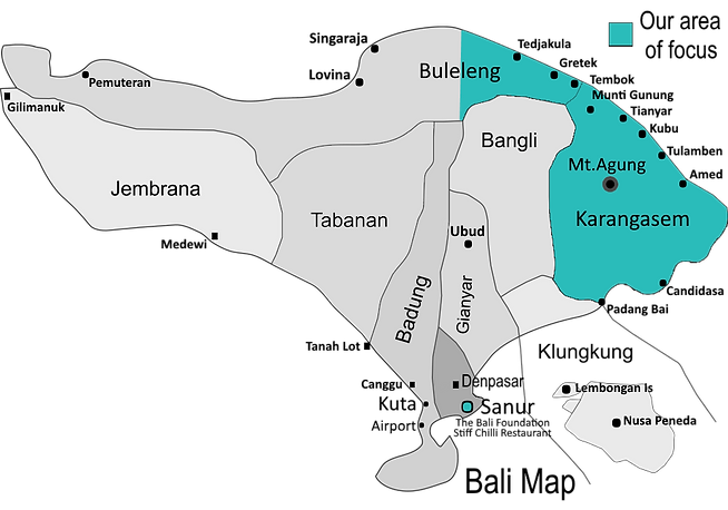 The Bali Foundation | Bali Map