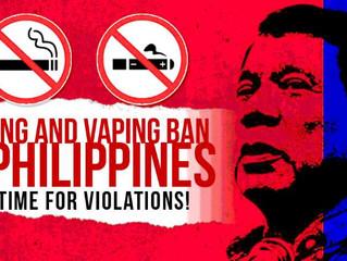 Philippines Backflips On Vaping