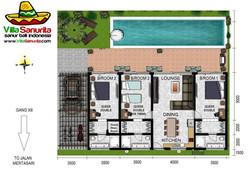 Villa Sanurita Floorplan