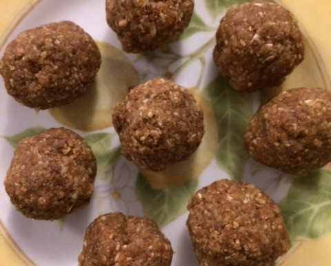 Ginger and Walnut Balls