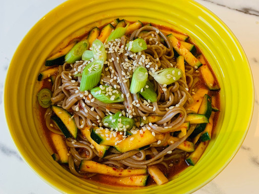 Korean-style cold buckwheat noodles