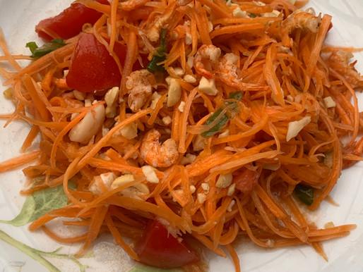 Thai style carrot salad
