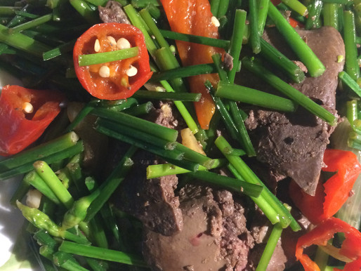 Stir-fried Chicken Liver with Chinese Chives
