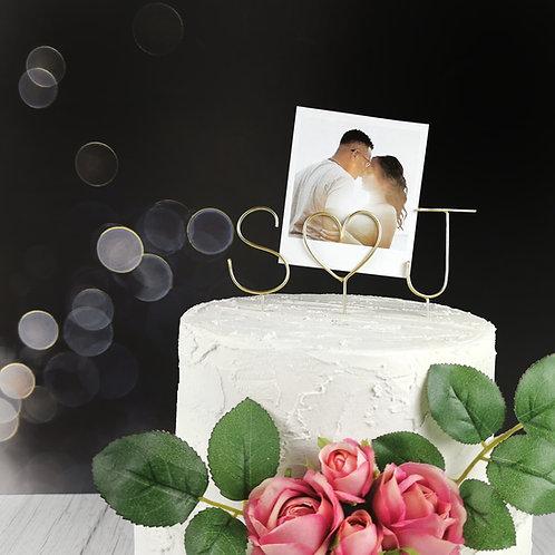 Polaroid Wedding Cake Topper