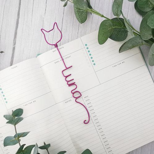 Custom Cat Name Bookmark