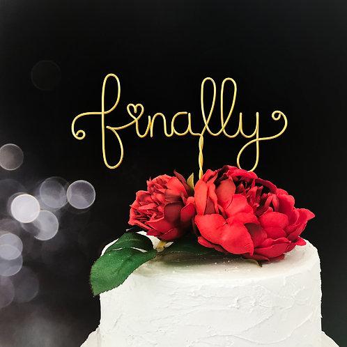 Finally Wedding Cake Topper